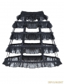 Black Gothic Lolita Layers Petticoat with Solf Fishbone
