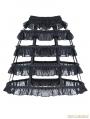 Black Gothic Lolita Layers Petticoat with Solf Fishbone