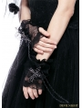 Black Gothic Cross and Chain Glove