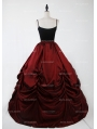 Black and Red Gothic Victorian Ball Gown Tulle Long Maxi Skirt