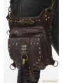 Brown Gothic Punk Steampunk Skull Waist Shoulder Messenger Bag
