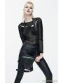 Black Gothic Steampunk PU Leather Waist Shoulder Messenger Bag