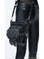Black Vintage Gothic Cross PU Leather Waist Shoulder Messenger Bag