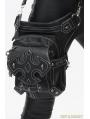 Black Vintage Gothic Cross PU Leather Waist Shoulder Messenger Bag