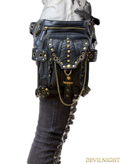 Gothic Steampunk Gold Chain Waist Shoulder Messenger Bag