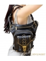 Black Vintage Gothic Steampunk Waist Shoulder Messenger Bag