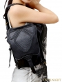 Black Gothic Punk Cross-body Travel Waist Shoulder Messenger Bag