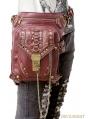 Brown Vintage Gothic Steampunk Waist Shoulder Messenger Bag