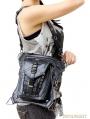 Black Gothic Chain Waist Shoulder Messenger Bag Pack