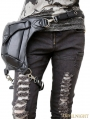 Black Gothic Punk Waist Shoulder Messenger Backpack Bag