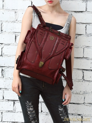 Gothic Steampunk Large Capacity Travel Shoulder Backpack Bag