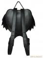 Black Gothic Angel Devil Lace Daypack Girl Heart Shoulder Bag