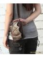 Brown Gothic Punk Motorcycle Mini Waist Shoulder Messenger Bag