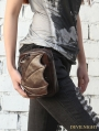 Brown Gothic Punk Motorcycle Mini Waist Shoulder Messenger Bag