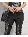 Black Gothic Punk Cross-body Unisex Motorcycle Waist Shoulder Messenger Bag