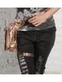 Vintage Gothic Cross-body PU Leather Women Waist Shoulder Messenger Bag