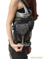 Black Vintage Gothic Steampunk Cross-body Motorcycle Waist Shoulder Messenger Bag