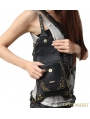Black Vintage Gothic Steampunk Cross-body Motorcycle Waist Shoulder Messenger Bag