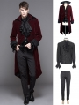 Wine Red Gothic Palace Style Suit for Men