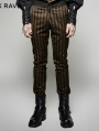 Brown Stripe Vintage Steampunk Suit for Men