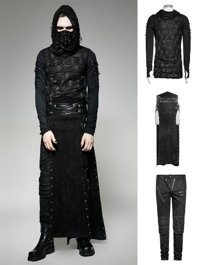 Black Gothic Punk Rock Suit for Men