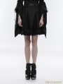 Black Gothic Punk High Waist Short Skirt