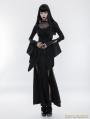 Black Gothic Gorgeous Lace Split Dress