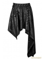 Black Gothic Asymmetric Punk Skirt for Women