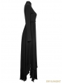 Gothic Retro High Neck Hollow-out Irregular Hem Mystical Dress