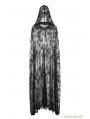 Black Gothic Transparent Lace Long Cloak for Women