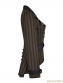 Brown Stripe Steampunk Jacket for Women
