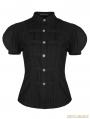 Steampunk Puff Sleeve Short Blouse for Women