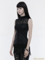 Black Gothic Gorgeous Sleeveless T-Shirt for Women