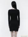 Black Gothic Simple Slim Dress