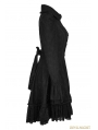 Black Gothic Lolita Lace Overcoat for Women