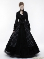 Black Gorgeous Floral Pattern Gothic Coat for Women