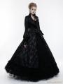 Black Gorgeous Floral Pattern Gothic Coat for Women