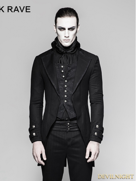 black gothic gentleman steampunk suit for men devilnight