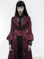 Red Gorgeous Floral Pattern Gothic Coat for Women