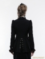 Black Gothic Steampunk Swallow Tail Jacket for Women
