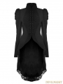 Black Gothic Vintage Swallow Tail Coat for Women