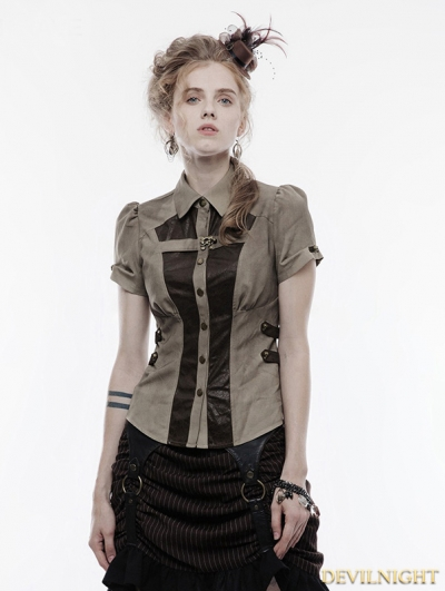 Gothic Handsome Punk Shirt for Women