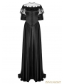 Black Victorian Vintage Palace Long Ball Gown Dress