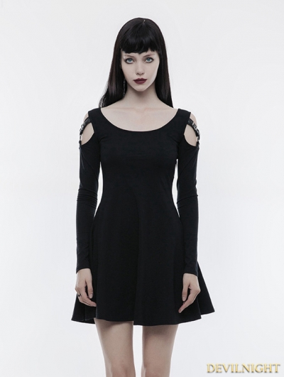 Black Gothic Slim Punk Dress