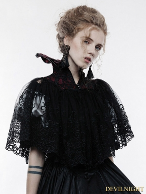 Gothic Lace Queen Style Short Cloak