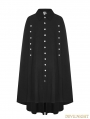 Black Gothic Uniform Long Cloak for Men