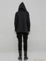 Black Gothic Punk Hooded Coat Cloak for Men