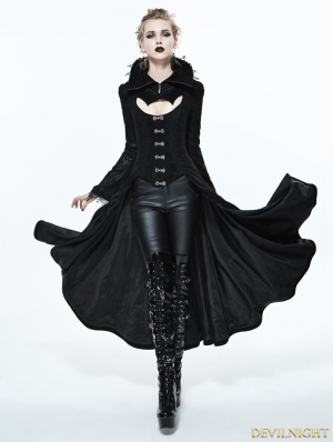 Black Gothic Dark Vampire Queen Style Jacket for Women