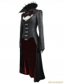 Black and Red Gothic Dark Vampire Queen Style Jacket for Women