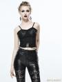 Black Gothic Bra Top for Women